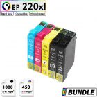 Premium Compatible EPSON 220XL Extra Large Ink Cartridge Value Pack