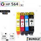 Premium compatible HP 564XL High Capacity Ink cartridge Rainbow Set