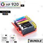 Premium compatible HP 920XL BK C M Y Ink Cartridge Value Pack