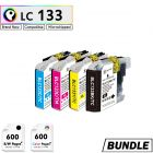 Premium compatible Brother LC131 LC133 XL Rainbow Set
