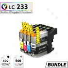 Premium compatible Brother LC231 LC233 XL Rainbow Pack