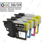 Rainbow Pack - Compatible Brother LC38 LC39 LC67 XL ink cartridge